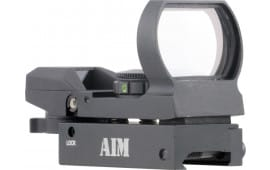 Aim Sports RT4WF1 Warfare Reflex Dual Illuminated 1x 24x34mm Obj Unlimited Eye Relief 3 MOA Black