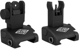 Yankee Hill Machine 5040H Quick Deploy Folding Sight Same Plane Hooded Stem Aluminum Black