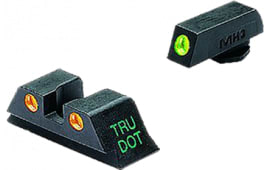 Meprolight 10224O Tru-Dot NS Set For Glock 9/40 17/19/22/23/31-35/37/38 Fixed Tritium Green Front/Orange Rear