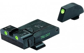 Meprolight 20224 Tru-Dot NS Adj Set Glock 17,19,20,21,22,23 Tritium Green F/R