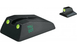 Meprolight 10993 Tru-Dot Night Sight Fixed Set Ruger SR9/SR40 Tritium Green Tritium Green Black