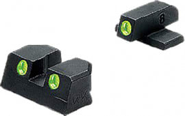 Meprolight 11410 Tru-Dot Night Sight Fixed Set Springfield XD 9/40 Tritium Green Tritium Green Black