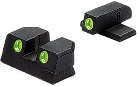 Meprolight 11420 Tru-Dot Night Sight Fixed Set Springfield Xd(m)/Xd-s Tritium Green Tritium Green Black