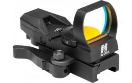 NCStar D4BGQ Four Reticle Reflex 1x 24x34mm Obj Unlimited Eye Relief 3 MOA Black