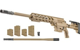 "FN Ballista Bolt-Action Rifle 26"" Barrel  338 Lapua 5rd -  FDE Finish - Dual-Caliber Rifle Package - 3703041002"