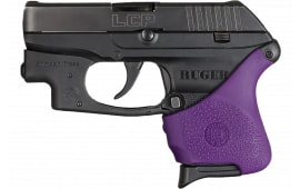 Hogue 18116 HandAll Hybrid Grip Sleeve Slip-On Grip Ruger LCP with Crimson Trace Textured Rubber Purple