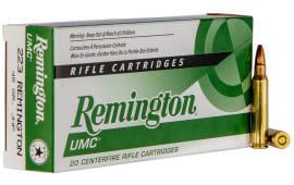 Remington Ammunition L223R7 UMC .223/5.56 NATO 45 GR Jacketed Hollow Point - 20rd Box