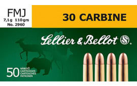 Sellier & Bellot SB30A Rifle Training 30 Carbine 110 GR FMJ - 50rd Box