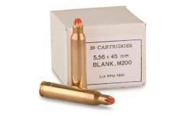 PPU PPB556 Blank 223 Remington/5.56 NATO - 20rd Box