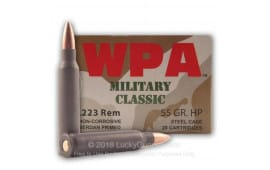 Wolf Military Classic .223 55gr HP Ammo - 500rd Case