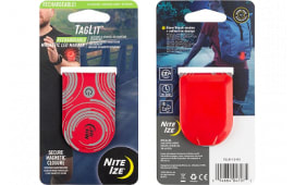 Nite Ize TGLR-10-R3 TagLit Rechargeable Magnetic LED Marker - Red/Red LED