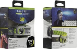 Nite Ize R300RH-17-R8 Radiant 300 Rechargeable Headlamp - Lime