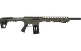Panzer AR12 Semi-Auto 12 Gauge Tactical Shotgun - OD Green Tactical Shotgun