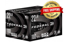 Federal Black Pack 22LR 38 GR Copper Plated Hollow Point 4400 Round Case - Free Shipping