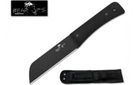 Bear & Son CC-500-B4-B 10 3/4 Bear Tac II Black G10 Handle with Black Epoxy Powder Coated Blade with Kydex Sheath