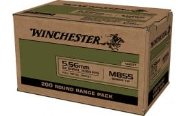 Winchester Ammo WM855200 USA 5.56x45mm NATO 62 GRFull Metal Jacket Lead Core (FMJLC) - 200rd Box