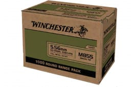 Winchester Ammo WM8551000 USA 5.56x45mm NATO 62 GRFull Metal Jacket Lead Core (FMJLC) (Sold by Case) - 1000rd Case