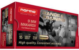 Norma 620440050 9mm MAK 95 FMJ - 50rd Box
