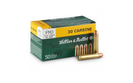 Sellier & Bellot .30 Carbine 110 GR FMJ Ammunition - 50rd Box