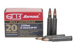 Barnaul .223/5.56, 62-Grain, Soft Point, Boat Tail - Polymer Coated, Steel Case, N/C - 500 Round Case