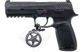 "Sig Sauer 320F9BSSFTRF P320 4.7"" Texas Ranger NGT SGT 17 Shot Black Polymer"