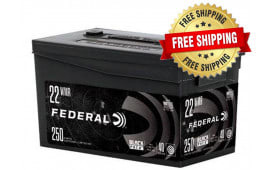 Federal Black Pack .22 WMR 40GR Full Metal Jacket 1000 Round Case  - Free Shipping