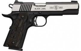 Browning 051-935492 1911 380 Blacklbl MED PRO 4.25 LAM