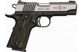 Browning 051-937492 1911 380 Blacklbl MED PRO 3.58 NS LAM