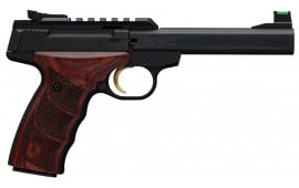 Browning Buck Mark Plus UDX Single 22LR Pistol, 5.5in Barrel 10+1 Rosewood Ultragrip DX Grip Blued - 051533490