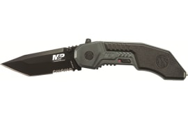 Smith & Wesson SWMP3BS M&P M.A.G.I.C. Assist Black w/40% Serrated Tanto