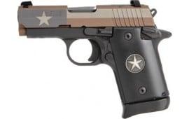 "Sig Sauer 9389TXFAMBI P938 3"" Night Sight 6-SH Texas Flag Edition (TALO)"