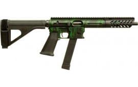 """TNW Firearms PXBRHG0009BKGN Aero Survival Pistol 8"""" 33rd w/BRACE Tiger Green"""