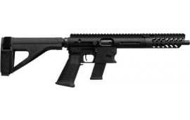 """TNW Firearms PXBRHG0045BK Aero Survival Pistol 8"""" 26rd w/BRACE Black"""