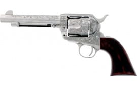 "Cimarron PP411LNBB Buffalo Bill Cody PW FS 5.5"" Engraved Nickel Revolver"