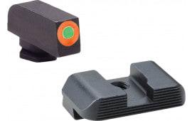 AmeriGlo SG434 Hackathorn Sight Sig P320 Green Tritium w/Orange Outline Steel Green Black