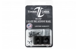 Timber M3SPRBL M-LOK 3 Slot Picatinny Rail Black