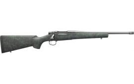 "Remington Firearms 85933 Model 7 4+1 16.50"" TB Black w/Green Webbing Fixed HS Precision w/Aluminum Bedding Stock Matte Blued Right Hand"