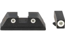 AmeriGlo GFT113 Fiber Combination Set Glock 17,19,22-24,26-27,33-35,37-39 Gen1-4 Red Front Black Rear Black