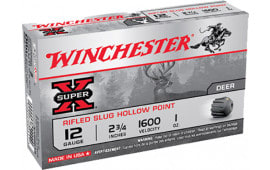 "Winchester Ammo X12RS15 Super-X 12 GA 2.75"" 1oz Slug Shot - 5sh Box"