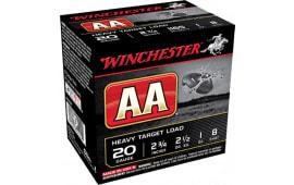 """Winchester Ammo AAH208 AA Target Loads 20 GA 2.75"""" 1oz #8 Shot - 250sh Case"""