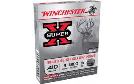 """Winchester Ammo X413RS5 Super-X 410 GA 3"""" 1/4oz Slug Shot - 5sh Box"""