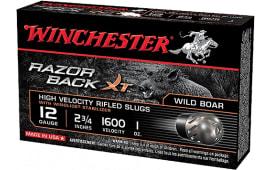 "Winchester Ammo S12RBSS Razorback XT High Velocity 12 GA 2.75"" 1oz Slug Shot - 5sh Box"