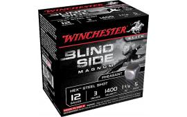 """Winchester Ammo SBSPH1235 Blindside 12 GA 3"""" 1-3/8oz #5 Shot - 250sh Case"""