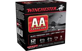 """Winchester Ammo AA129TB AA TrAAcker 12 GA Clear Sky Training Light 12 GA 2.75"""" 1-1/8oz #9 Shot - 250sh Case"""