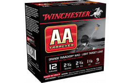 "Winchester Ammo AA129TO AA TrAAcker 12 GA Overcast Training Light 12 GA 2.75"" 1-1/8oz #9 Shot - 250sh Case"