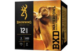 "Browning Ammo B193411242 BXD Extra Distance 12 GA Steel Waterfowl 3.5"" 1-1/2oz #2 Shot - 250sh Case"
