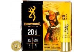 "Browning Ammo B193512025 BXD Extra Distance Upland 20 GA 2.75"" 1oz #5 Shot - 250sh Case"