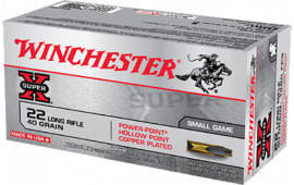 Winchester Ammo X22LRPP Super-X 22 Long Rifle (LR) 40 GR Power-Point - 50rd Box