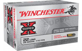 Winchester Ammo X22LRCBMA Super-X 22 Long Rifle 29 GR Lead Round Nose - 50rd Box