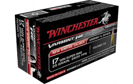 Winchester Ammo S17W25 Varmint 17 Winchester Super Magnum (WSM) 25 GR Polymer Tip - 50rd Box